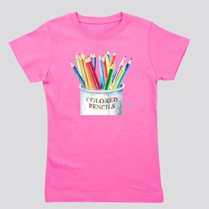 Colored Pencils Girl's Tee