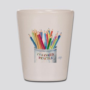 Colored Pencils Shot Glass