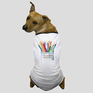 Colored Pencils Dog T-Shirt