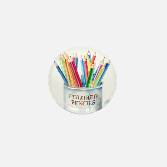 Colored Pencils Mini Button
