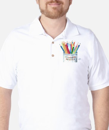 Colored Pencils Golf Shirt