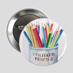 """Colored Pencils 2.25"""" Button"""
