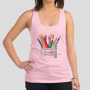 Colored Pencils Racerback Tank Top