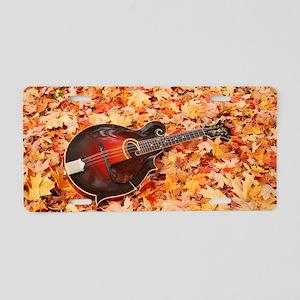 POSTCARD - Gibson Mandola i Aluminum License Plate