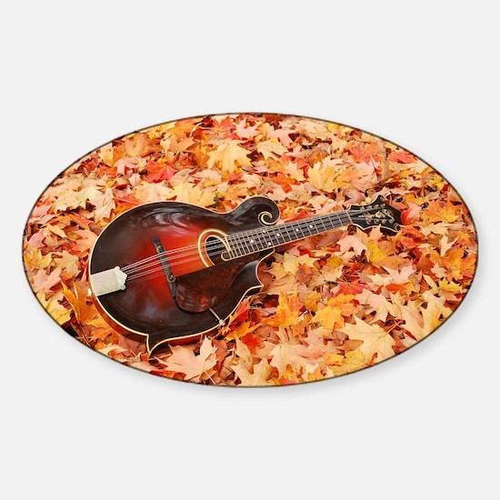 POSTCARD - Gibson Mandola in Fall L Sticker (Oval)