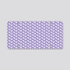 Trendy Purple Butterflies Aluminum License Plate