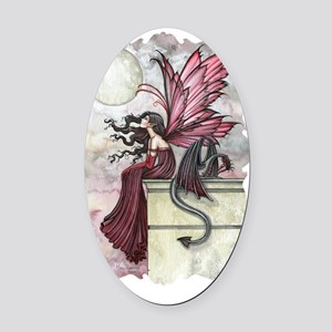 Restless ruby Oval Car Magnet
