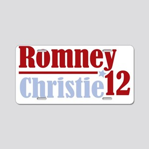Romney Christie dark Aluminum License Plate