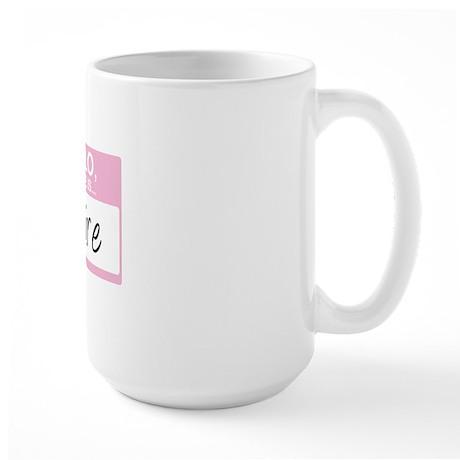 HelloMyNameIs...Claire Large Mug