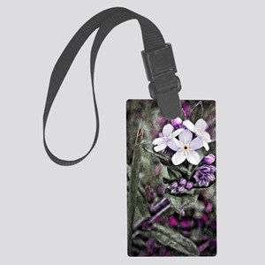 forget me not flowers Large Luggage Tag