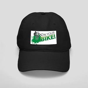 ON YOUR BIKE LOGO Black Cap