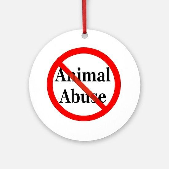 no_animal_abuse Round Ornament