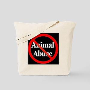 no_animal_abuse_black Tote Bag