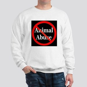 no_animal_abuse_black Sweatshirt