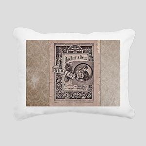 Vintage Book Rectangular Canvas Pillow