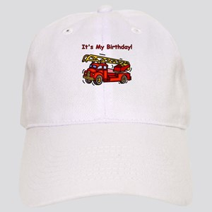 Fire Truck Birthday Cap