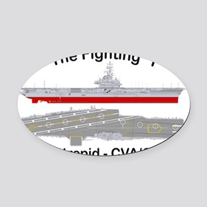 Essex-Intrepid-Angle_T-Shirt Oval Car Magnet