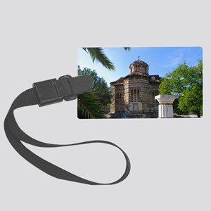 Byzantime church in Athens Large Luggage Tag