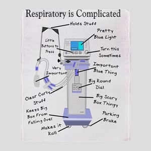 Respiratory is Complicated Throw Blanket