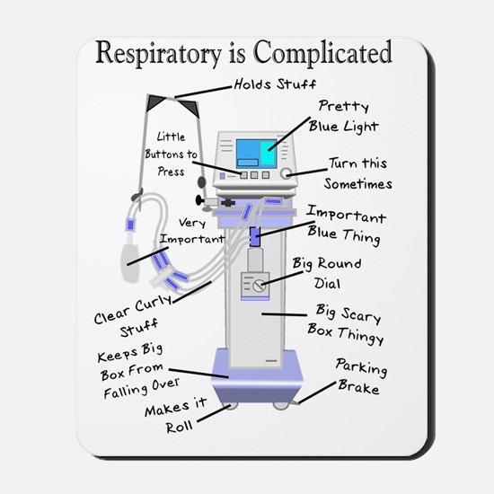 Respiratory is Complicated Mousepad