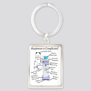 Respiratory is Complicated Portrait Keychain