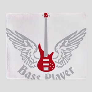 Bass Guitar 07-2011 F 2c Throw Blanket