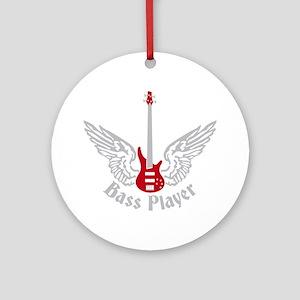 Bass Guitar 07-2011 F 2c Round Ornament