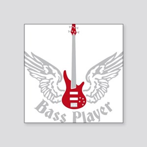"Bass Guitar 07-2011 F 2c Square Sticker 3"" x 3"""