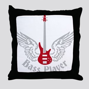 Bass Guitar 07-2011 F 2c Throw Pillow