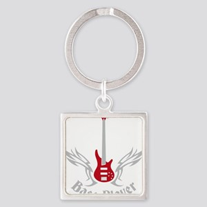 Bass Guitar 07-2011 H 2c Square Keychain