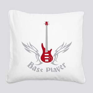 Bass Guitar 07-2011 H 2c Square Canvas Pillow