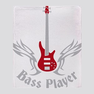 Bass Guitar 07-2011 H 2c Throw Blanket
