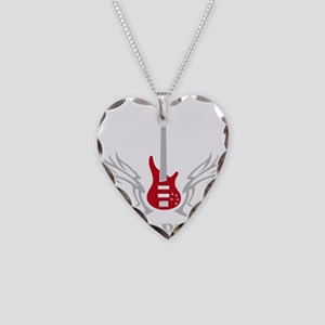 Bass Guitar 07-2011 H 2c Necklace Heart Charm