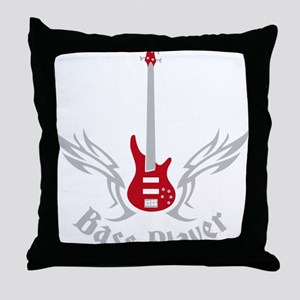 Bass Guitar 07-2011 H 2c Throw Pillow