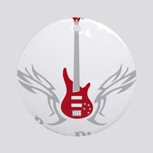 Bass Guitar 07-2011 H 2c Round Ornament