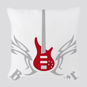 Bass Guitar 07-2011 H 2c Woven Throw Pillow