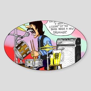 Drums Sticker (Oval)