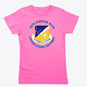 49th-Fighter-Wing-with-Text Girl's Tee