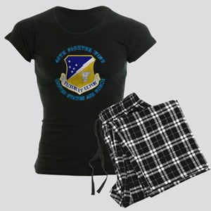 49th-Fighter-Wing-with-Text Women's Dark Pajamas