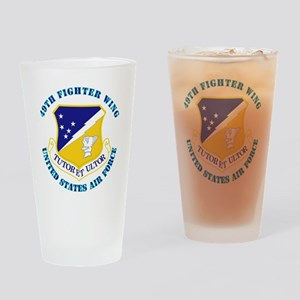 49th-Fighter-Wing-with-Text Drinking Glass
