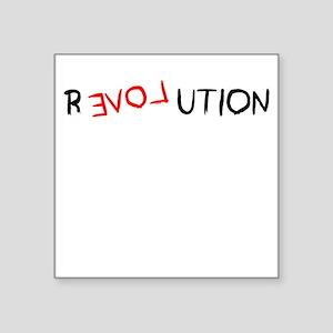 "revolution Square Sticker 3"" x 3"""