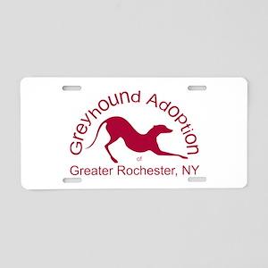 GAGR Logo - Red Aluminum License Plate