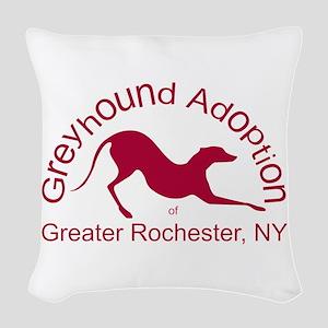 GAGR Logo - Red Woven Throw Pillow