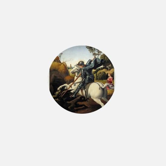 Saint George and the Dragon - Raphael Mini Button