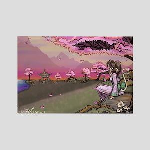 Anime Catgirl Art Inspirational G Rectangle Magnet