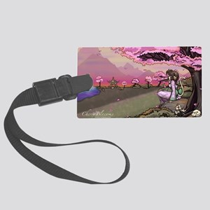 Anime Catgirl Art Inspirational  Large Luggage Tag