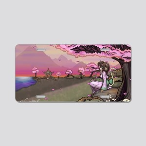 Anime Catgirl Art Inspirati Aluminum License Plate