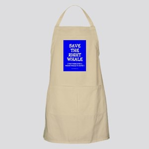 SAVE THE RIGHT WHALE BBQ Apron