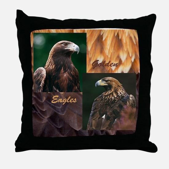 Cute Golden eagles Throw Pillow