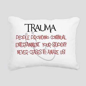 Trauma Entertainment and Rectangular Canvas Pillow